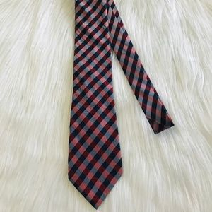Nautica Plaid Classic Neck Tie 100% Silk